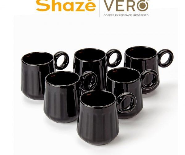 The Black Coffee Mug Set - Set of 6